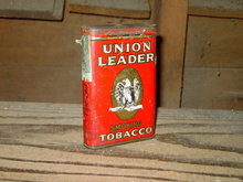 UNION LEADER SMOKING TOBACCO CAN POCKET TIN LORILLARD BALTIMORE MARYLAND ADVERTISING
