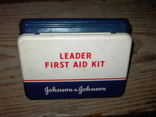 JOHNSON LEADER FIRST AID CAN TIN STORAGE BOX