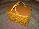 LAWN PICNIC BASKET LUNCH CARRIER UTENSIL TOTE