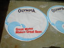 OLY OLYMPIA BEER BULLSEYE ADVERTISING PAPER DECORATION