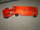 SOLID WOOD TRUCK SEMI TRAILER FLAT BED HEAVY DUTY TOY COMMUNITY BRAND RIFTON NEW YORK