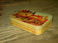 BLUEBIRD ENGLISH TOFFEE CAN HARRY VINCENT BIRMINGHAM HUNNINGTON ENGLAND HOME SWEET HOME ADVERTISING SWEETS CANNISTER