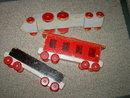 WOODEN LOCOMOTIVE TRAIN CAR CABOOSE SCHOOLROOM TOY