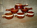 MCCOY WESTERN STONEWARE BROWN DRIP GLAZE POTTERY SOUP BOWL CEREAL DISH