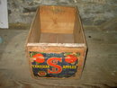 SOUTHERN OKANAGAN CANADIAN APPLE CRATE WOOD BOX KELOWNA BRITISH COLUMBIA ADVERTISING LABEL