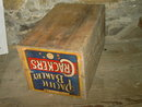 PACIFIC BAKERY CRACKER BOX WOODEN CRATE STAR GROCERY DORCHESTER NEBRASKA INK STAMP