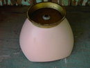 HEAVY PINK POTTERY CANDY BOWL 1950'S CONDIMENT TRAY