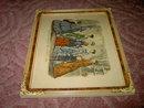 GODEY'S LADY FASHION PRINT 1869 VICTORIAN APPAREL NEW YORK MORRIS BENDIEN MARK ART NOUVEAU FRAME