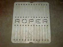 ROPER STOVE ADVERTISING OVEN TRAY CAST ALUMINUM COOKING RANGE DRIP RACK