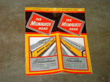 MILWAUKEE ROAD SUPER DOME HIAWATHAS WESTERN CITY STREAMLINER TRAIN TIME TABLE BOOKLET