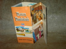 UNION PACIFIC RAILROAD TRAVEL BROCHURE WESTERN WONDERLAND TRAIN VACATION ADVERTISING BOOKLET