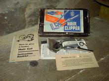 CHARLESCRAFT HAIR CLIPPER HOME BARBER ACCESSORY GERMANY ELK GROVE ILLINOIS INSTRUCTION FLYER ORIGINAL CARDBOARD BOX