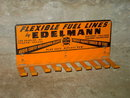 EDELMANN AUTOMOBILE CAR FLEXIBLE FUEL LINE STEEL SIGN WALL DISPLAY ADVERTISING HOOK SERVICE STATION FIXTURE