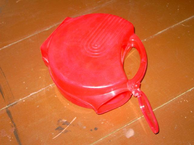 BURROUGHS BARRITE RED PLASTIC PITCHER BEVERAGE SERVER