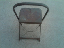 STEEL FOLDING CHAIR AMERICAN DEPRESSION ERA FURNITURE FIXTURE