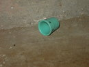 BLUE PLASTIC ADVERTISING THIMBLE SEWING TOOL J M MCDONALD COMPANY