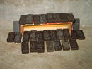 CROWN PATTERN DOMINO SET WOODEN TILE GAME PIECES WOOD CARDBOARD STORAGE BOX
