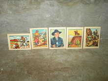 HOPALONG CASSIDY WILD WEST TRADING CARD POST CEREAL BOX PRIZE COWBOY HERO COLLECTIBLE LITHO