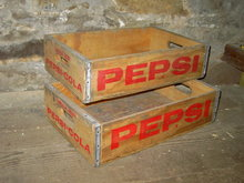 LINCOLN NEBRASKA PEPSI COLA CRATE SOFT DRINK BEVERAGE BOTTLE TOTE CARRIER CASE WOODEN TRUCKING BOX