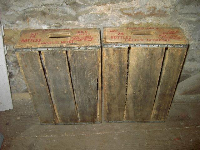 LINCOLN NEBRASKA PEPSI COLA CRATE SOFT DRINK BEVERAGE BOTTLE TOTE CARRIER CASE WOODEN TRUCKING BOX