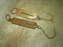 SPRING COIL SCALE WEIGHING TOOL FARM DEVICE GERMANY P S & W COMPANY MARK
