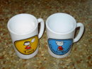PEANUTS CHARLIE BROWN LUCY MUG CARTOON CUP CHARLES SCHULZ AVON COLLECTIBLE