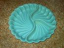 MADDUX CALIFORNIA RELISH BOWL BLUE GLAZE ART POTTERY TRAY