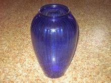COBALT BLUE GLASS VASE FLOWER DISPLAY VAT TABLE CENTERPIECE