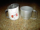 FLOUR SIFTER DRY INGREDIENT STRAINER KITCHEN UTENSIL