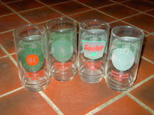 SINCLAIR GASOLINE TUMBLER BAR LOUNGE GLASS SET