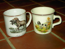 HUNTING DOG MUG IRISH SETTER PUP & DUCK COFFEE CUP