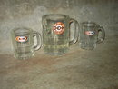 A & W ROOT BEER MUG ARROW TARGET EMBLEM CHILDS SIZE GLASS CUP