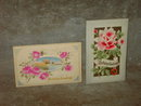 BIRTHDAY GREETING POST CARD VICTORIAN ERA FLOWERED PRINTS