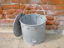 GALVANIZED STEEL FEED BUCKET POULTRY CHICKEN BIRD SEED FEEDER PAIL FARM TOOL