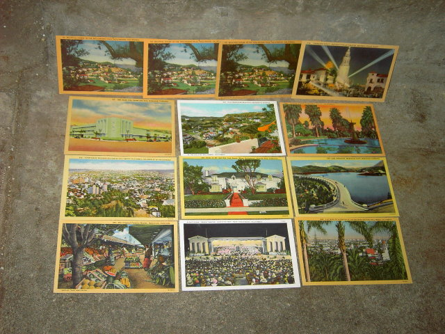 BEVERLY HILLS HOLLYWOOD CALIFORNIA POSTCARD TOURIST CARD