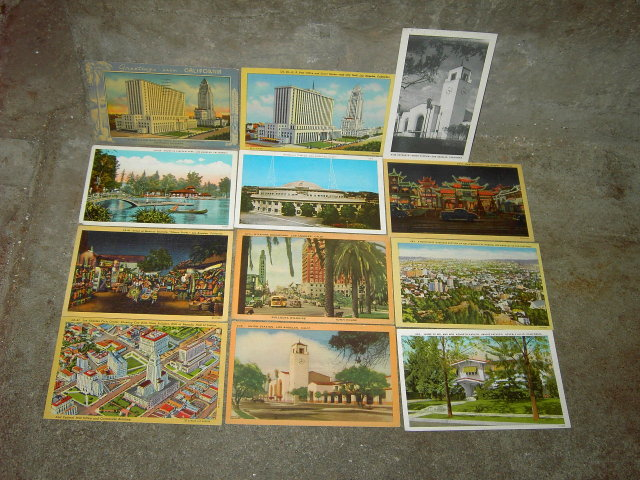 LOS ANGELES HOLLYWOOD BEVERLY HILLS CALIFORNIA POSTCARD TOURISM PICTURE CARD MAIL ARTICLE