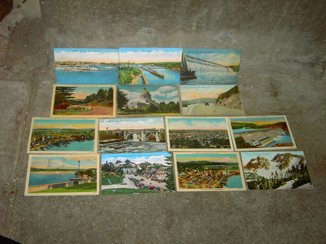 SEATTLE SPOKANE OLYMPIA WASHINGTON POSTCARD TOURIST PICTURE CARD MAIL ARTICLE
