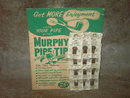 MURPHY PIPE TIP SMOKING ACCESSORY DISPLAY CARD CARDBOARD COUNTER SIGN