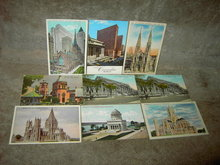 NEW YORK CITY POSTCARD TOURIST HISTORICAL LANDMARK PICTURE CARD TRAVEL MAILER