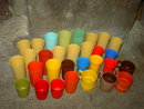 TUPPERWARE COLORED TUMBLER COFFEE CUP PLASTIC GLASS RETRO TABLEWARE KITCHEN UTENSIL