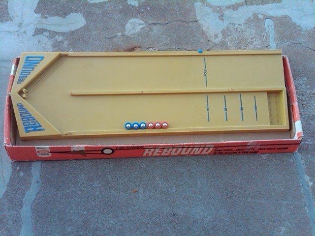 REBOUND RETRO BOARD GAME TOY 1970 IDEAL ORIGINAL CARDBOARD BOX