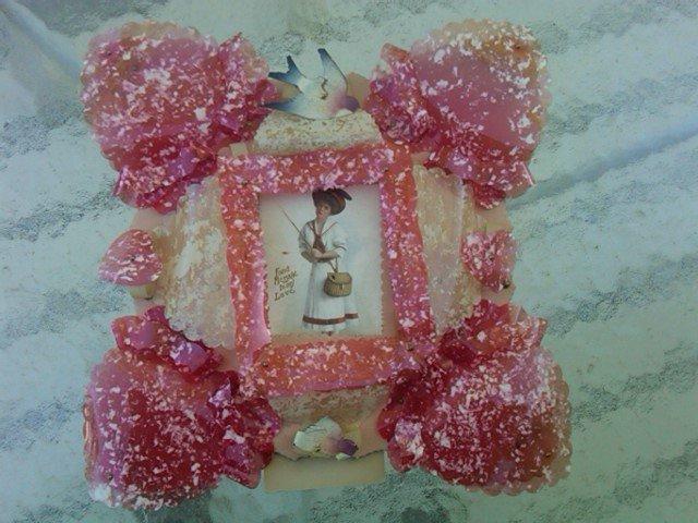 Celluloid Valentine Card Victorian Holiday Decoration