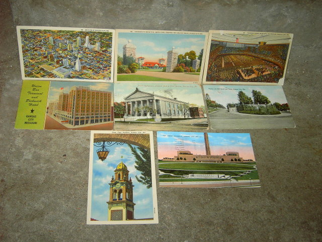 KANSAS CITY MISSOURI PICTURE POSTCARD HISTORIC LANDMARK MAIL CARD