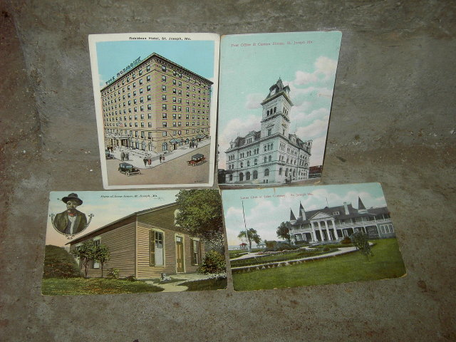 ST JOSEPH MISSOURI PICTURE POSTCARD HISTORICAL LANDMARK MAIL CARD