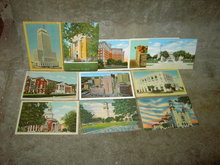DALLAS FORT WORTH WACO SAN ANTONIO TEXAS PICTURE POSTCARD HISTORIC BUILDING CITY LANDMARK MAIL CARD