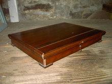 SILVERWARE STORAGE BOX HINGED WOOD CASE
