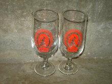 ADOLPH COORS GOLDEN COLORADO BAR GLASS STEM BEER BEVERAGE ADVERTISING GLASSES
