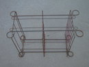 RETRO IRON PLANT RACK HEAVY WIRE GARDEN STAND