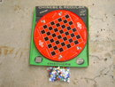 TIN METAL CHINESE CHECKER GAME BOARD OHIO ART ORIGINAL CARDBOARD STORE BOX