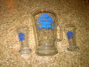 PABST BLUE RIBBON BEER PITCHER BAR GLASS TUMBLER SET